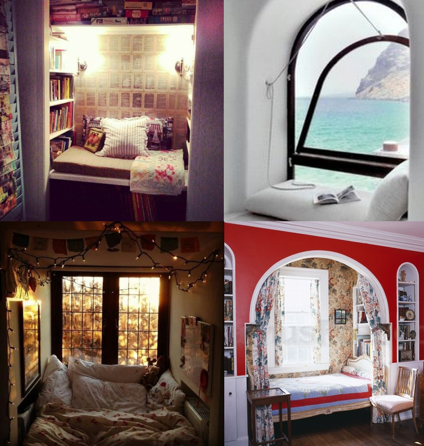book nook collage