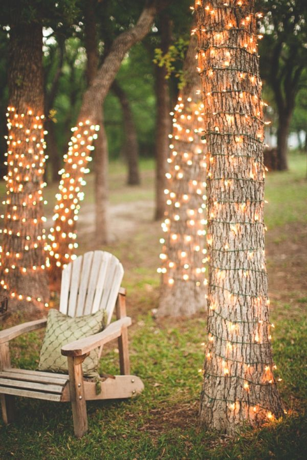 fairy lights outdoors