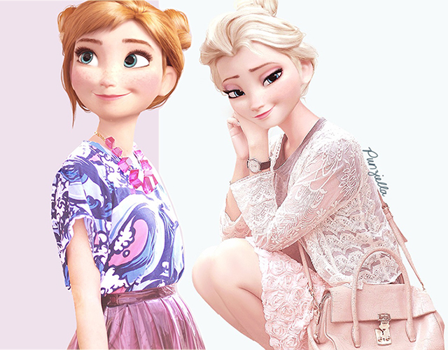 Frozen S Princesses Get Spring Summer Style Makeover Shemazing