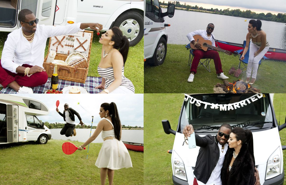 kimye honeymoon collage