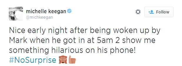 Michelle Keegan blasts her fiancé's ex-girlfriend on Twitter