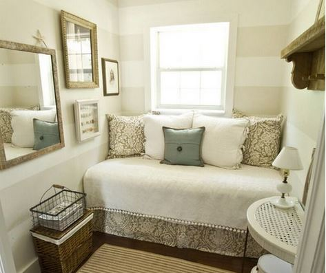 Seven ways to make a small room look big shemazing - Make a small space look bigger ideas ...