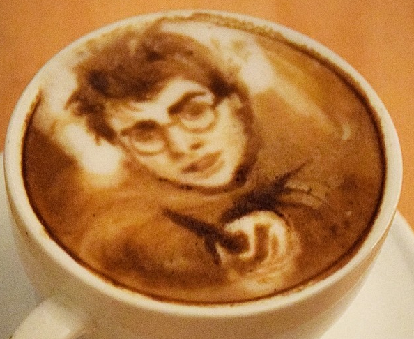 this barista can draw literally anything on your coffee. Black Bedroom Furniture Sets. Home Design Ideas