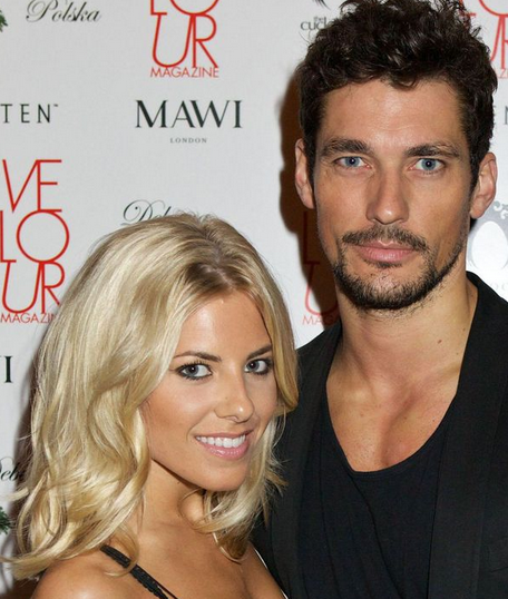 David Gandy has a new girlfriend and she seems like a dumb famewhore