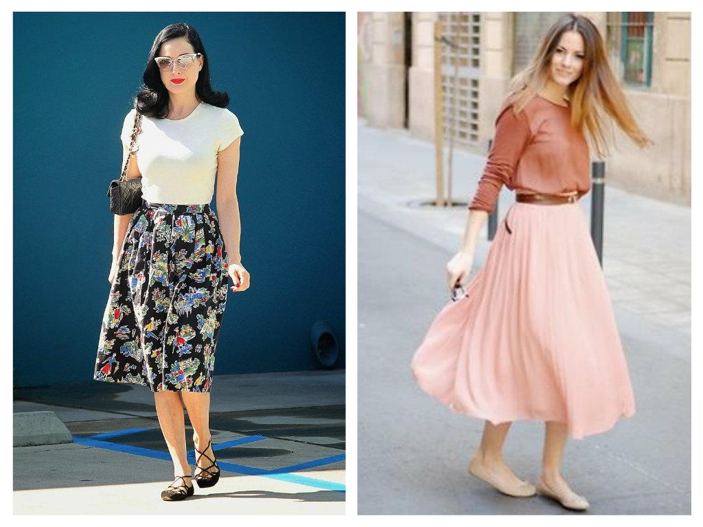 how to wear midi skirt