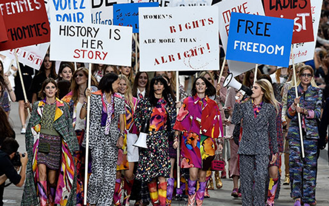 One of our favourite models cara delevingne led a fashion mob down