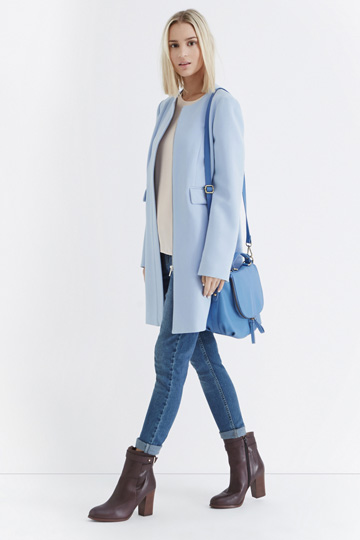 dirt cheap complimentary shipping complimentary shipping powder blue coat | SHEmazing!