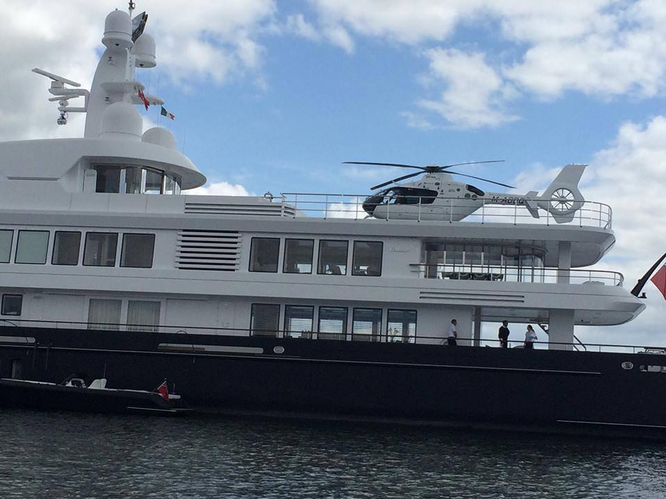 Is Mr Clooney right now steering his yacht from… Cork to