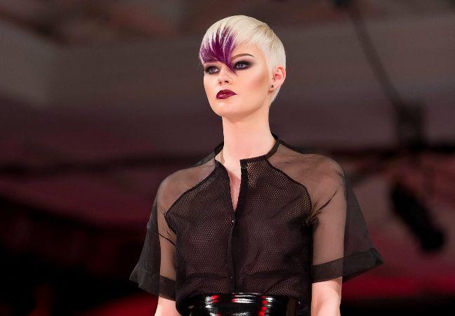 Platinum Blonde With A Purple Twist Key Hair Colour Trends
