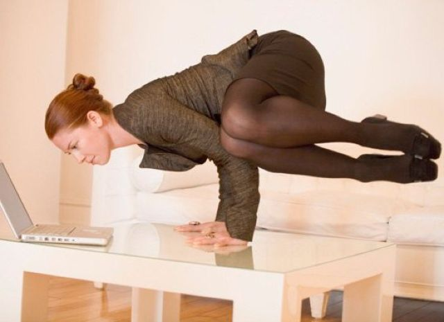 Desk Yoga All Of The Exercise Benefits With No Standing
