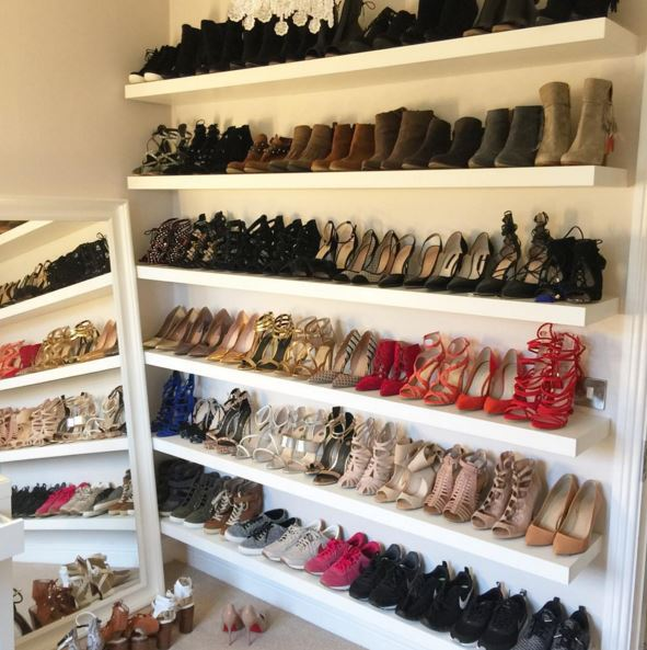 Pippa O Connor S Shoe Wall Is All Of Your Fashion Dreams Come True Shemazing