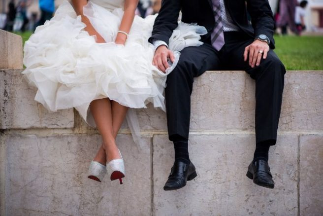 the best attitude 35d4d b4387 This bride had VEGAN Louboutins made for her €100K Paris ...