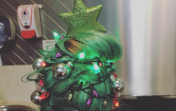 Christmas Tree Hair Shemazing