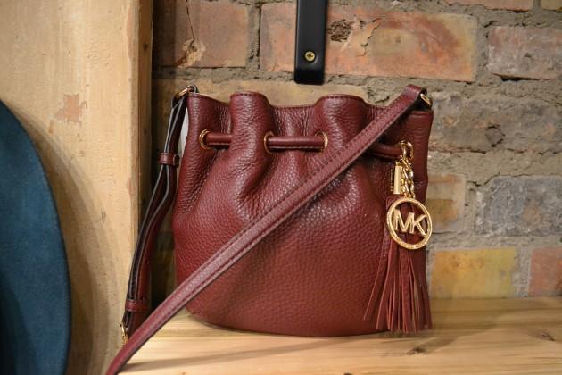 Michael Kors Burgundy Leather Drawstring Bag f84f4fdf0bcd9