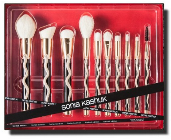 sonia kashuk snake brushes. sonia kashuk has released a collection of cosmetic utensils that even draco malfoy would use. snake brushes