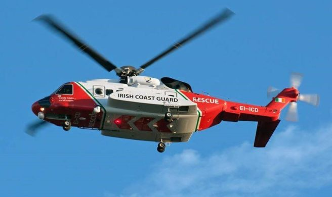 Three helicopter crew missing in Ireland