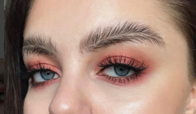 Image result for feathered eyebrows