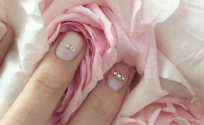 eadaaf6a960e48 Logo manicures are the cutest way to pay homage to your fave brand