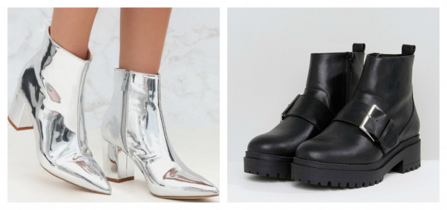 acad37b3bfe1 PrettyLittleThing Silver boots €17.96 (50% off) ASOS Chunky booties €37.84