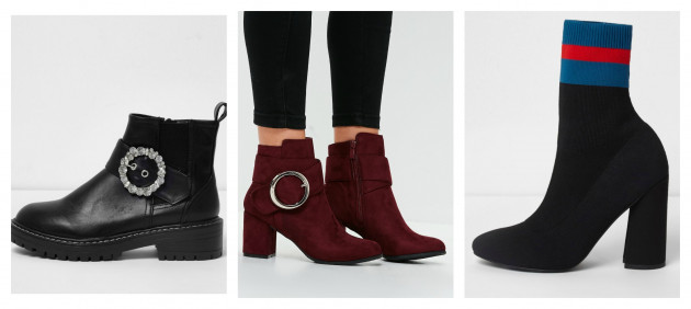 926aacbc108b River Island black boots €48.00(20% off) Missguided red circle buckle ankle  boots €30.00 (50% off) River Island sock boots €78.00 (20% off)