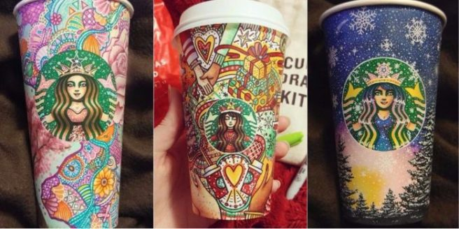 These Beautifully Decorated Starbucks Cups Belong In A Gallery