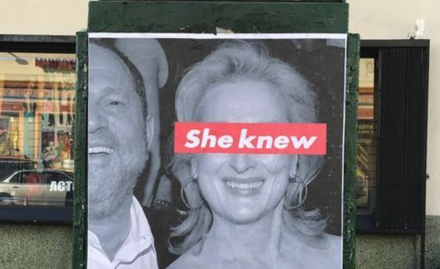 Meryl Streep Targeted by Street Artists-Where is Tarantino's Poster?