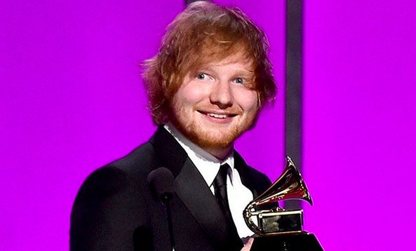 Ed Sheeran Beats Out Kesha & Lady Gaga at the Grammys Awards