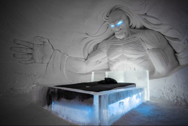 Spectacular Game of Thrones Ice Hotel Opens With White Walkers and Dragons