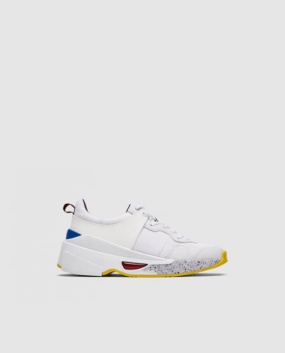 669a1f0d062f Zara contrasting chunky sole sneakers €49.95