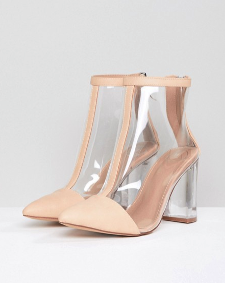 9d2b3b3a6f24 Missguided clear heeled ankle boot €60.81