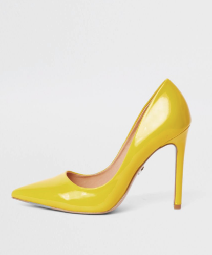 356752168d90 River Island yellow faux leather court shoe €48.00