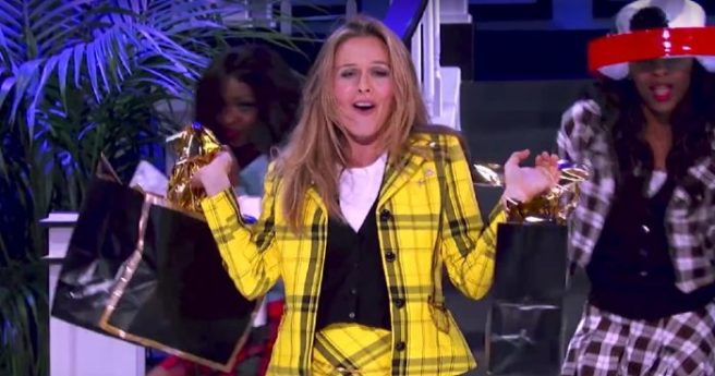 Alicia Silverstone steps into iconic Clueless oufit for Lip