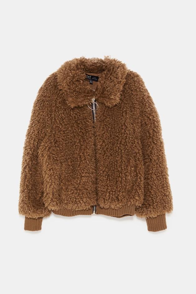 e51211875 Faux shearling bomber jacket €19.99