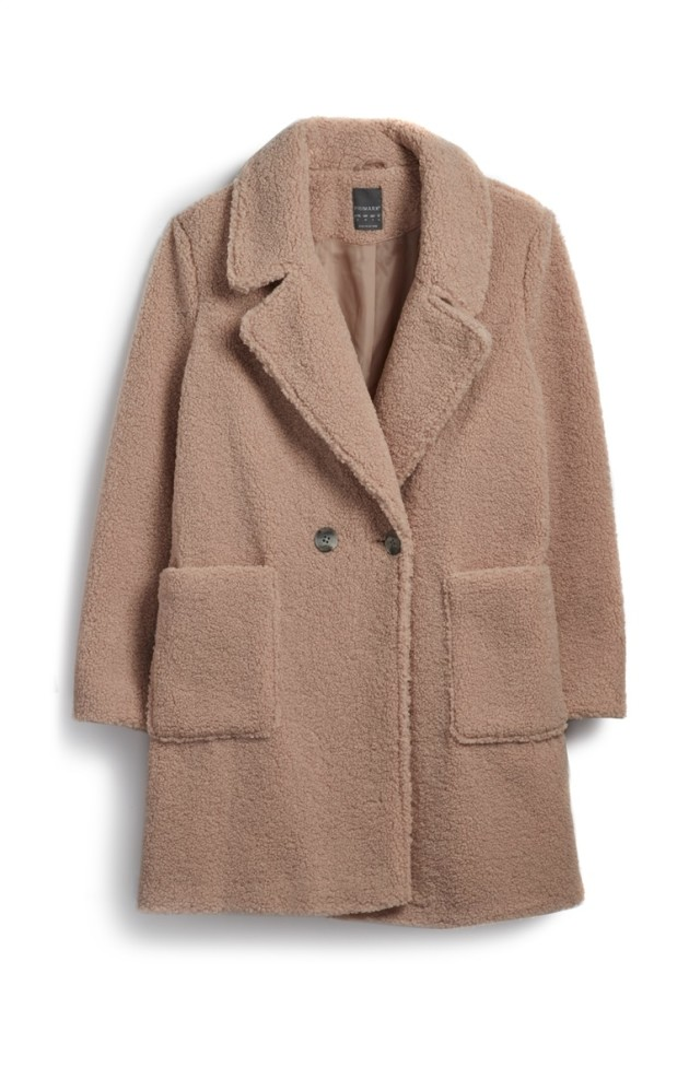 444e843f1d314 Penneys Blush Teddy Crombie Coat €35.00