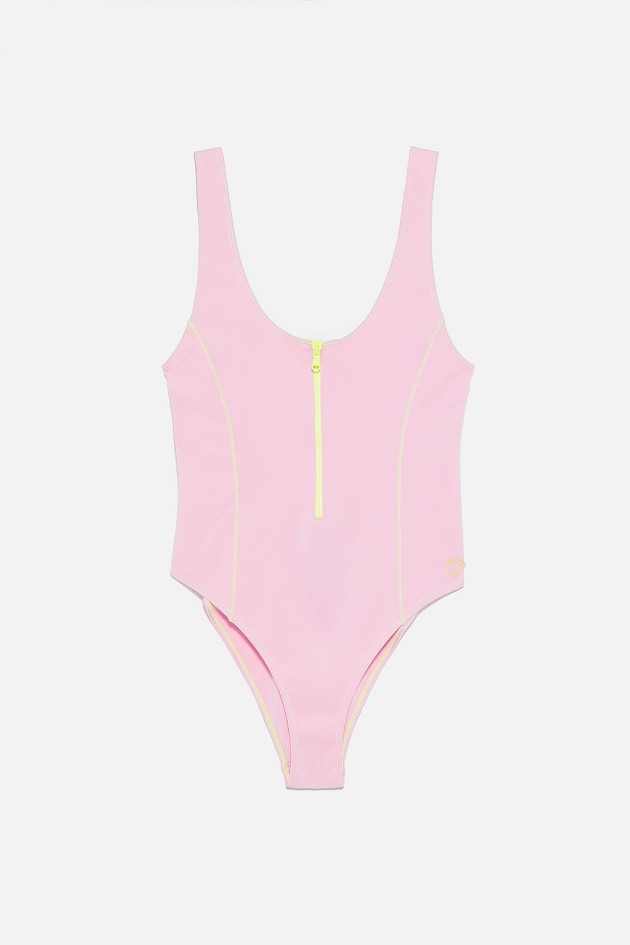 b6a39e6337 Pink recycled material swimsuit €25.95