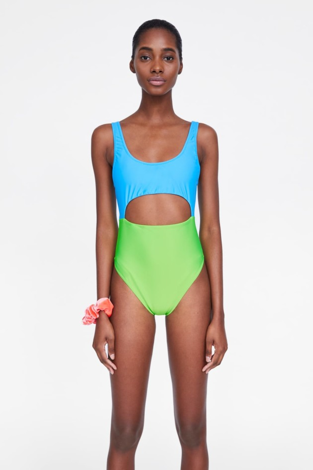 691b65daf3d Weekday geometric print swimsuit €34.56