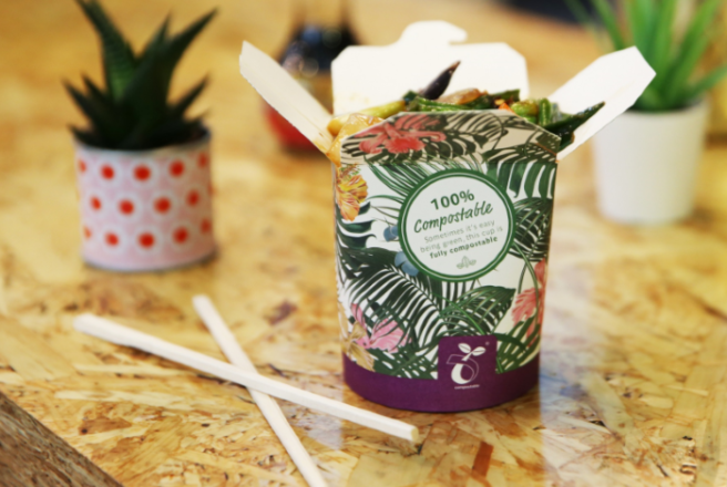 Camile is the FIRST chain in Europe to launch compostable packaging