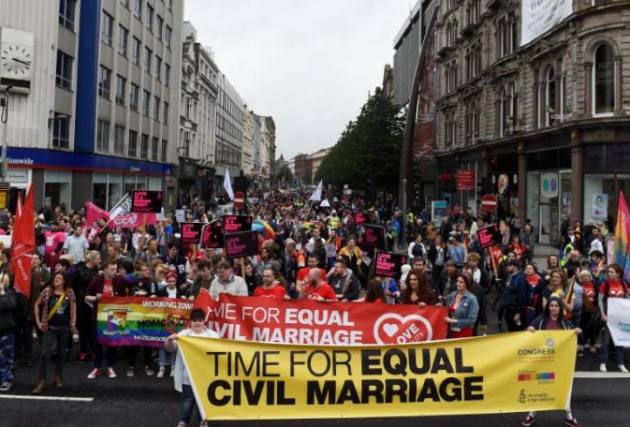 extending gay marriage rights to Northern Ireland
